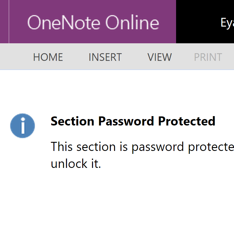 Password Protected Sections for the OneNote Web App